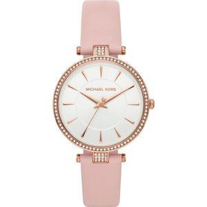 MICHAEL KORS Anabeth Rose Gold Pink Leather Watch